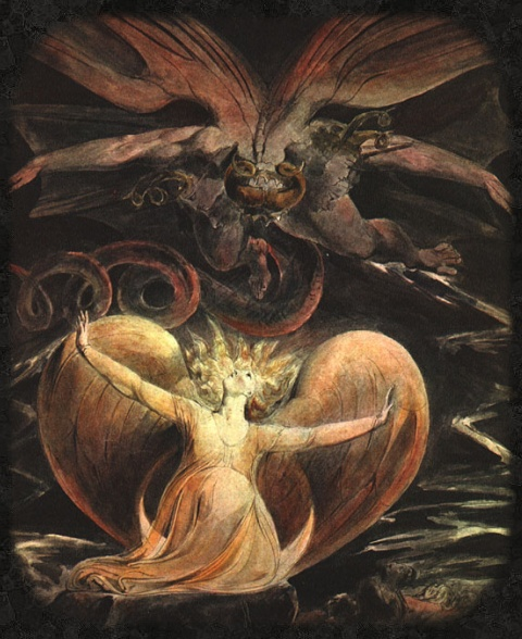 art: William Blake: The Great Red Dragon and the Woman Clothed with the Sun