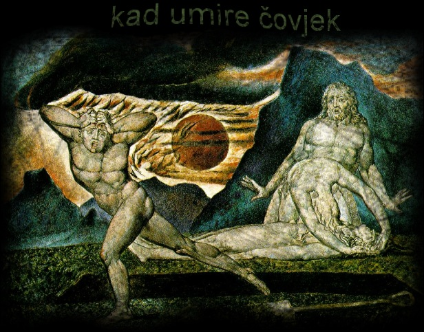art: William Blake : The Body of Abel Found by Adam and Eve